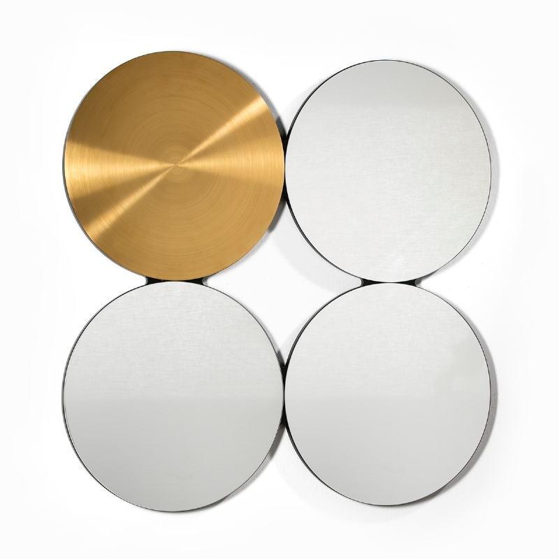 Specchio 100X3X100 Vetro Metallo Dorato