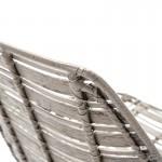 Chair 55X54X81 Metal Grey Wicker Grey