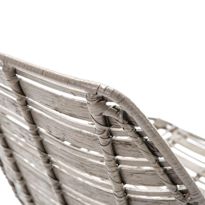Chair 55X54X81 Metal Grey Wicker Grey - image 51908