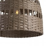 Lampada A Sospensione 60X60X60 Vimini Grigio