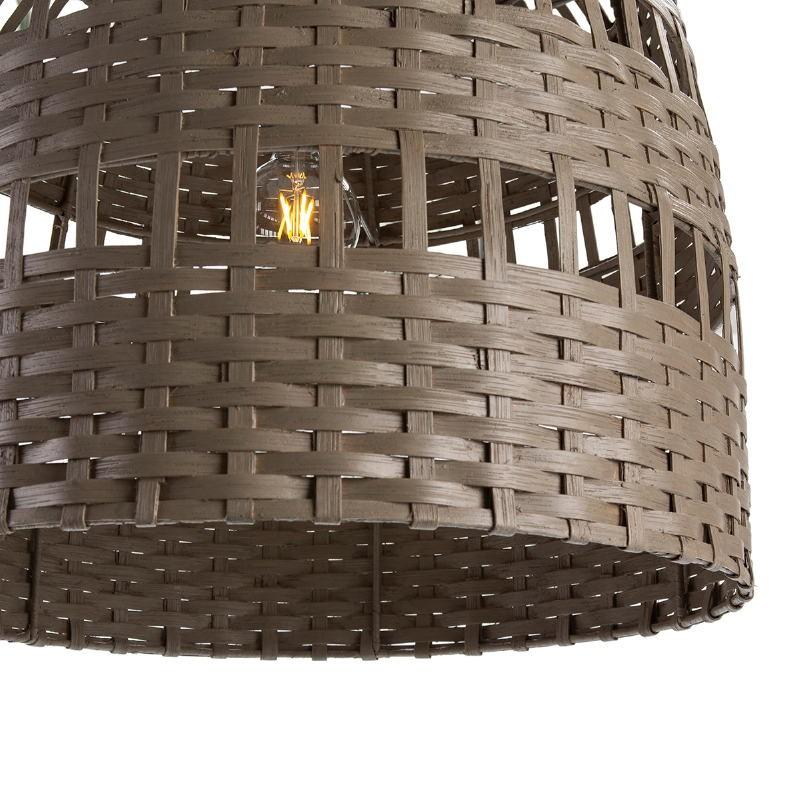 Lampada A Sospensione 60X60X60 Vimini Grigio - image 51918
