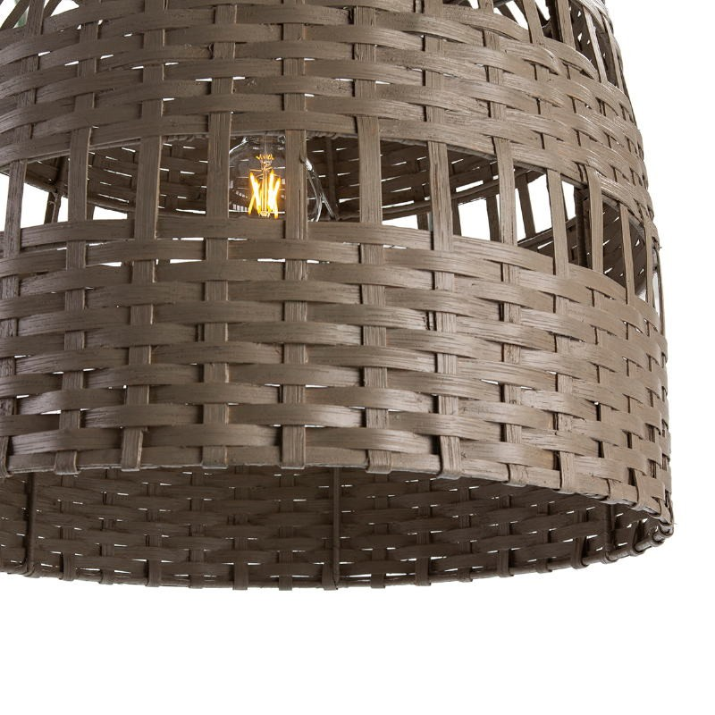 Lampe suspendue 60x60x60 Osier Gris - image 51918