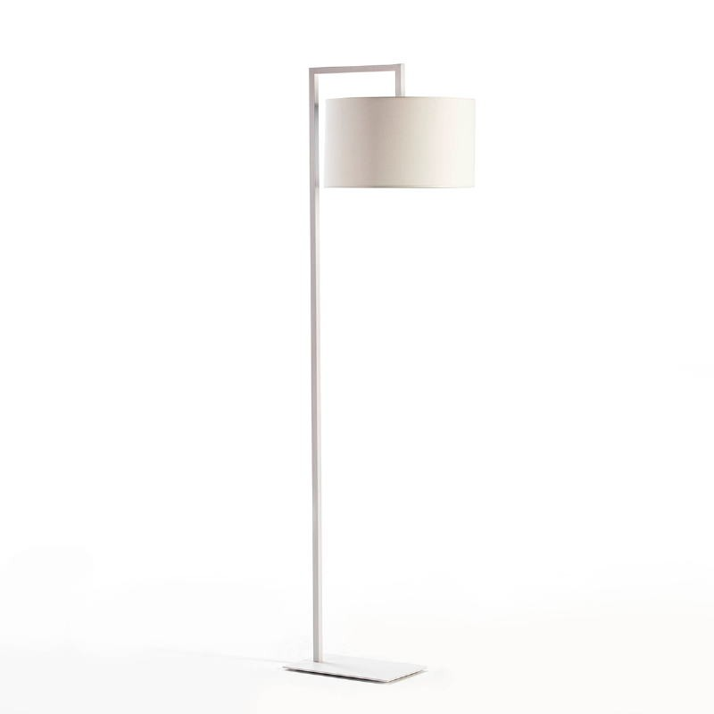 Lampada A Stelo Senza Paralume 20X35X170 Metallo Bianco - image 51957