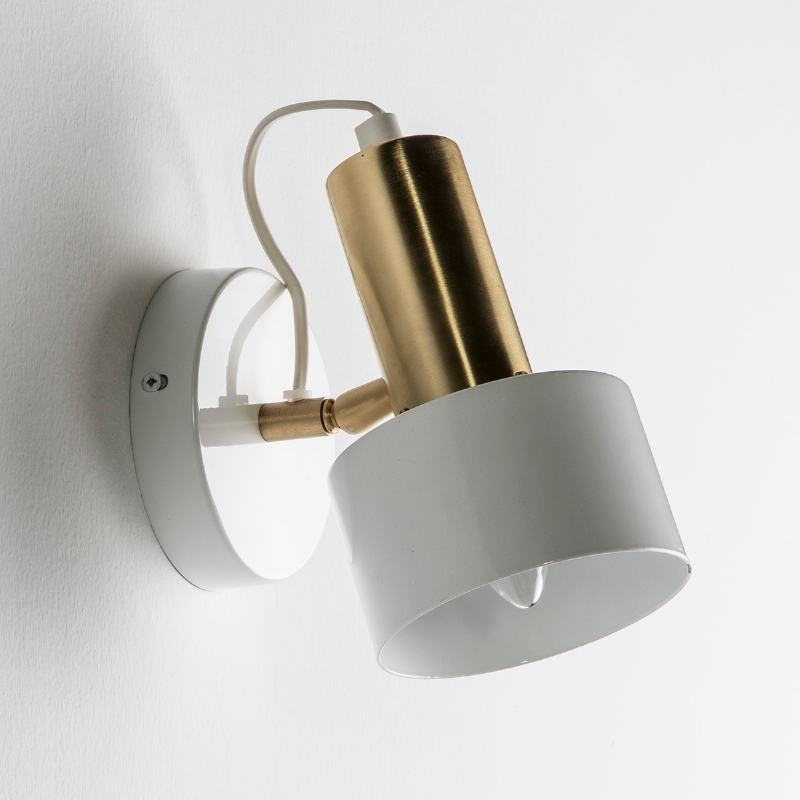 Wall Lamp 12X16X19 Metal White Golden - image 51961