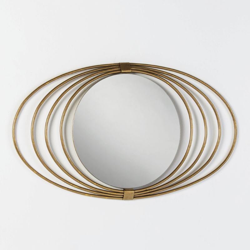 Spiegel 91X3X53 Glas/Metall Golden - image 51995