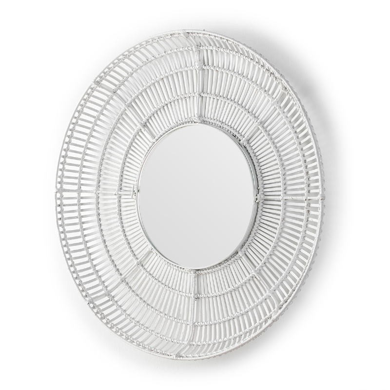 Espejo 90X8X90 Cristal Mimbre Blanco - image 52036