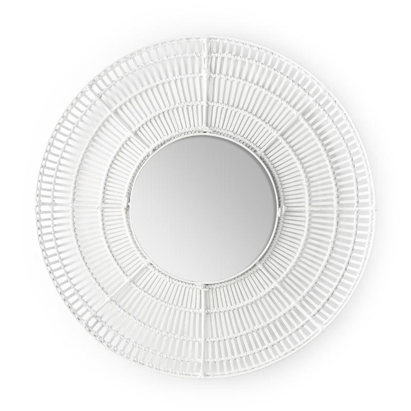Espejo 90X8X90 Cristal Mimbre Blanco - image 52039