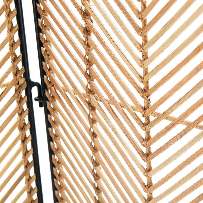 Bildschirm 140X2X178 Wicker Natürlich/Metall Schwarz - image 52041