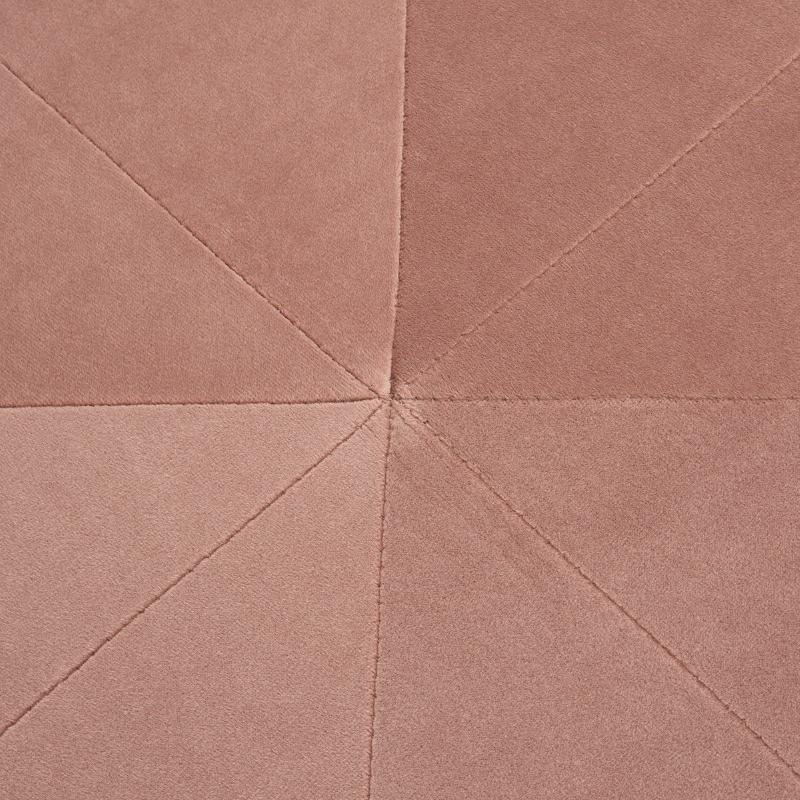 Pouf 80x80x36 tissu Velours Rose - image 52072