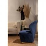 Sessel 60X66X85 Stoff Samt Blau