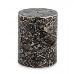 Stool 33X33X45 Ceramic Black Silver