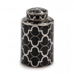 Earthenware Jar 18X18X30 Ceramic Black Silver