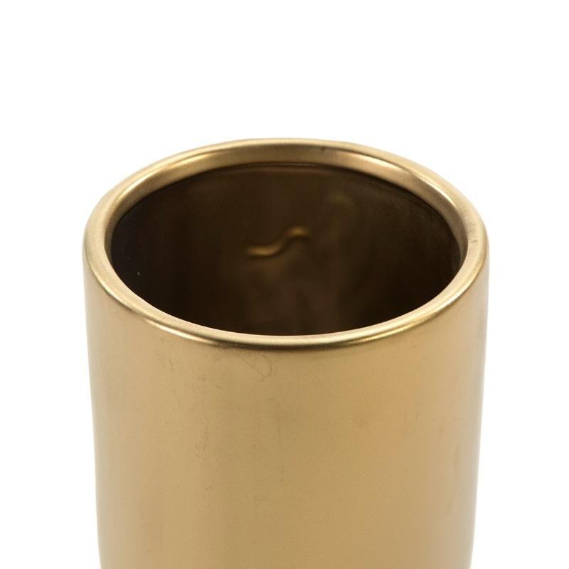 Vase 13x13x35 Céramique Doré - image 52200