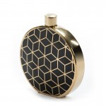 Earthenware Jar 27X6X31 Ceramic Golden Black