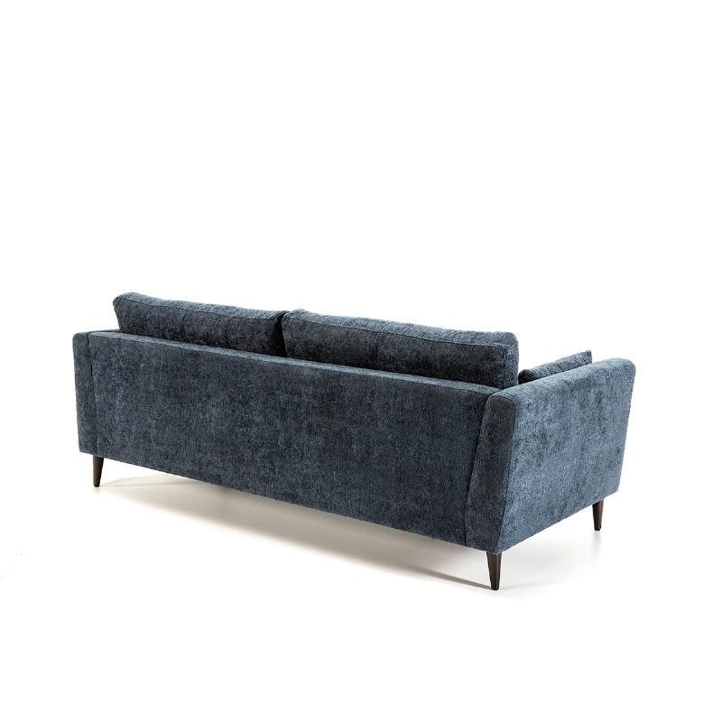 Canapé 3 places 216x90x85 cm tissu Bleu - image 52218