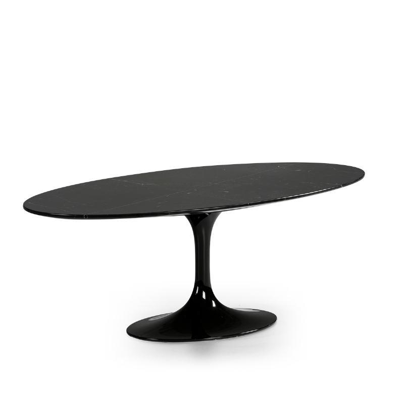 Table basse 120x60x42 cm Marbre Noir Fibre de verre Noir - image 52221