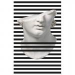 Frame 100X3X150 Methacrylate White Black