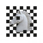 Quadro 70X3X70 Metacrilato Bianco Nero