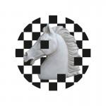 Tableau 70x3x70 Méthacrylate Blanc Noir Modèle 2