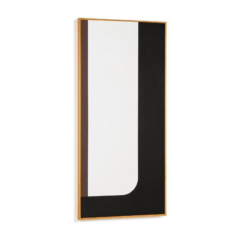 Toile 60x4x130 Blanc Noir Doré Modèle 2