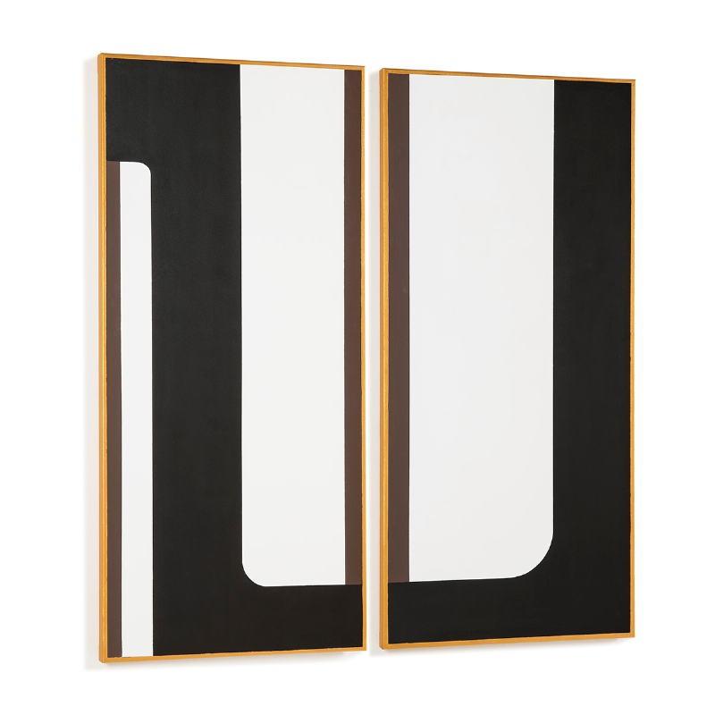 Toile 60x4x130 Blanc Noir Doré Modèle 2 - image 52314