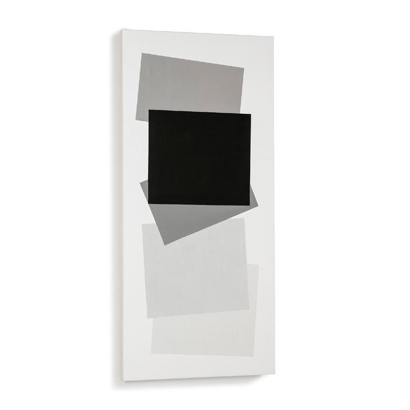 Der Malerei 60X4X130 Weiß/Schwarz Modell 2