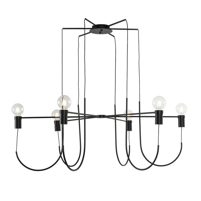 Lampada A Sospensione 119X119X45 Metallo Nero