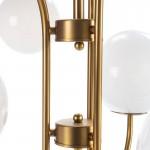 Lampada A Sospensione 78X78X100 Vetro Bianco Metallo Dorato