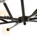 Hanging Lamp 130X130X74 Glass Amber Metal Black