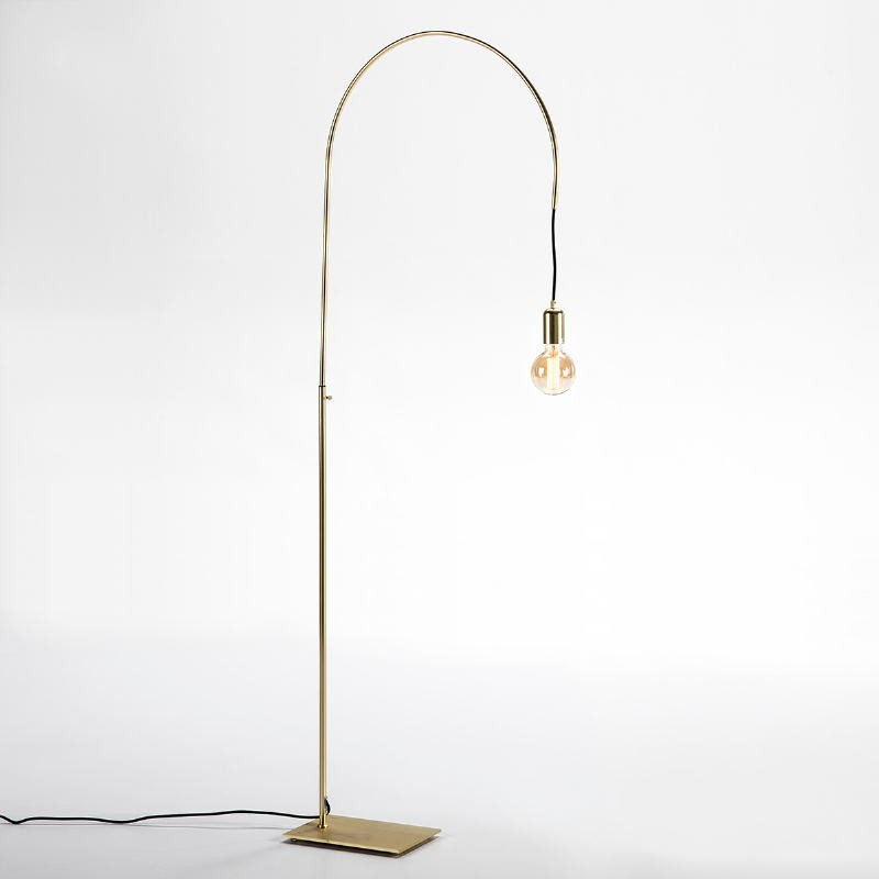 Lampada A Stelo 71X20X175 Metallo Dorato