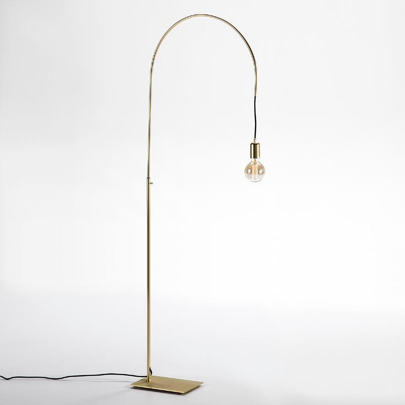 Lampada A Stelo 71X20X175 Metallo Dorato - image 52421