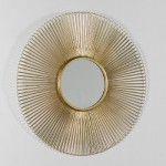 Specchio 81X2 Metallo Dorato