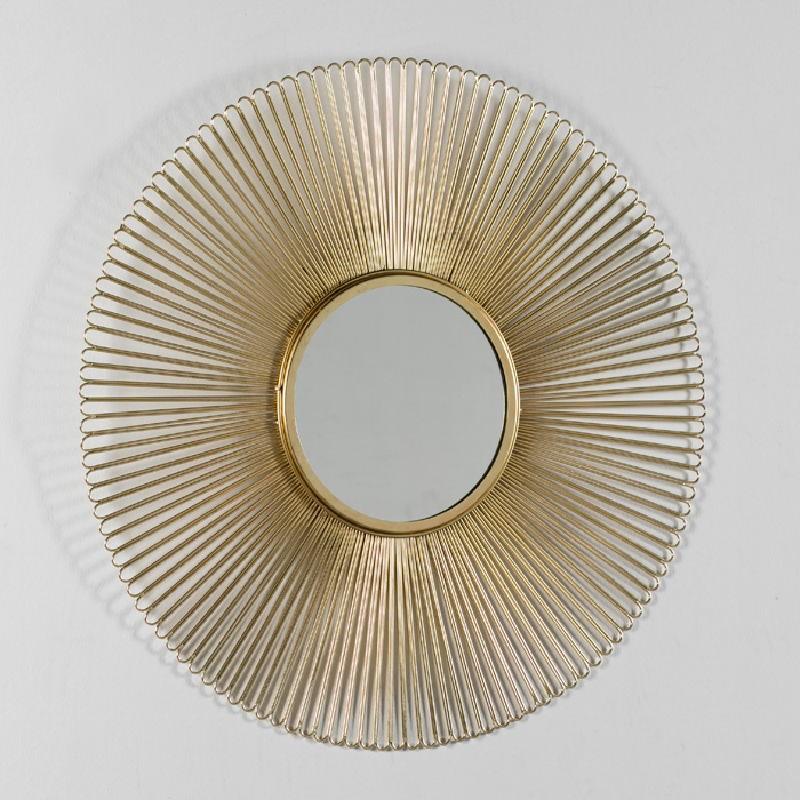 Spiegel 81X2X81 Metall Golden