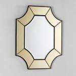 Mirror 85X3X100 Glass Transparent Gold