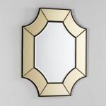Specchio 85X3X100 Vetro Trasparente Oro