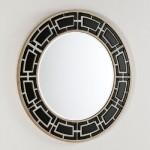 Spiegel 110X2X110 Glas Weiß / Schwarz