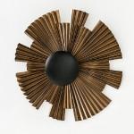 Aplique 67X15X51 Metal Dorado Negro