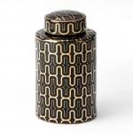 Earthenware Jar 17X30 Ceramic Black Golden