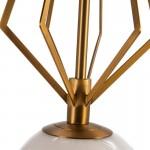 Lampe suspendue 23x23x68 Verre Blanc Métal Doré