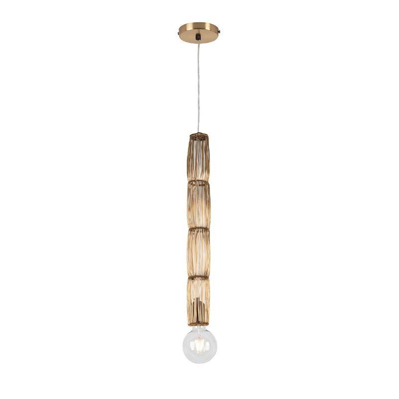 Lampe suspendue 6x6x55 Fil de fer Doré - image 52554
