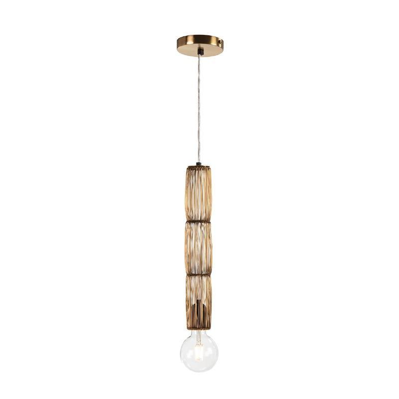 Lampe suspendue 6x6x40 Fil de fer Doré