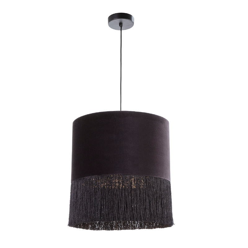 Hanging Lamp With Lampshade 40X40X43 Velvet Black - image 52574