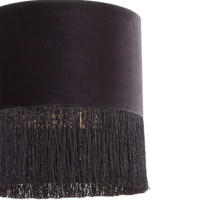 Hanging Lamp With Lampshade 40X40X43 Velvet Black - image 52575