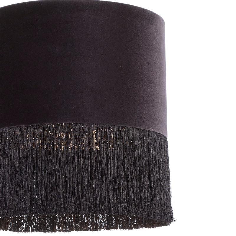 Lampada A Sospensione Con Paralume 40X40X43 Velluto Nero - image 52575