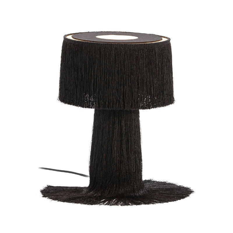 Table Lamp With Lampshade 25X25X38 Fabric Black - image 52580