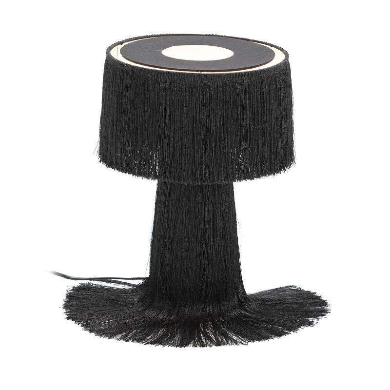 Table Lamp With Lampshade 25X25X38 Fabric Black - image 52583