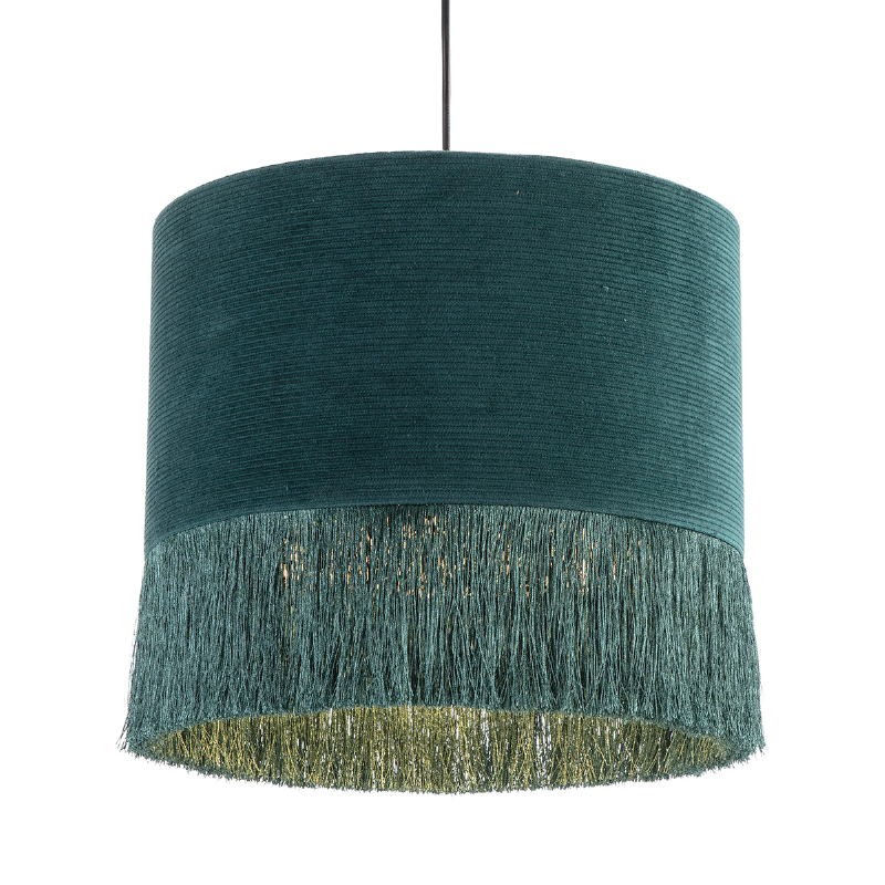 Hanging Lamp With Lampshade 35X35X32 Fabric Green - image 52586