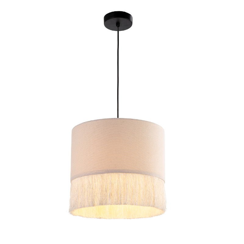 Lámpara Colgante 35X35X32 Tela Blanco