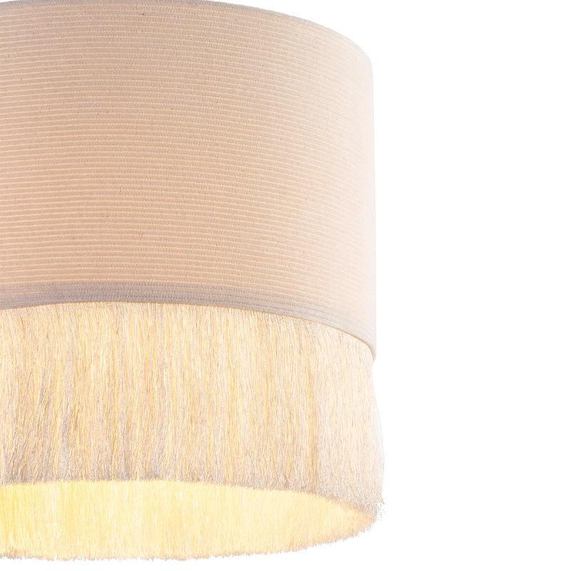 Lampe suspendue 35x35x32 tissu Blanc - image 52588