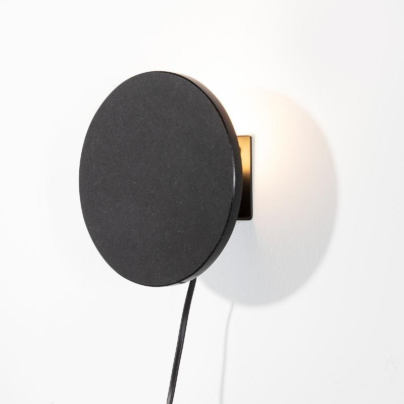 Aplique 18X8X18 Granito Metal Negro